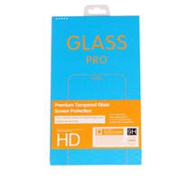 300 PCS Novo telefone Universal Protetor de Tela Caixa De Papel De Vidro Embalagem Protetora Para Iphone X 8 7 6 6 s Plus 5 5S 5c 4 4S