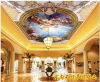 Al por mayor-Custom fondo de pantalla 3d para 3d paredes murales de papel tapiz del techo HD Europea mural del techo carácter ángel mural mural del techo Zenith