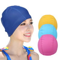 Adult Fashion Waterproof Swimming Cap Hat with Senior PU Coa...