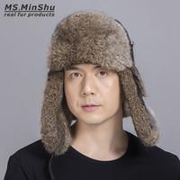 Cappello con borsalino con cappuccio in vera pelliccia da coniglio russo Cappello con berretto in pelliccia da coniglio uomo con cappuccio in vera pelle