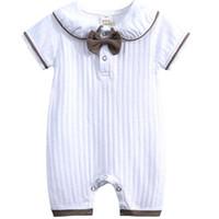 الوليد ملابس الطفل طفل الفتيات الفتيان ملابس رومبير القطن قصير الأكمام حللا الرضع السروال القصير الأطفال طفل بوتيك 0-18 متر BB040