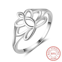 hot fashion hollow out design solid 925 sterling silver ring...