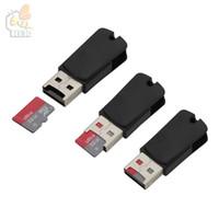 2 in 1 USB Erkek Mikro USB Çift Yuvası OTG Adaptör Ile TF / SD Hafıza Kartı Okuyucu Android Smartphone Için yararlı 500 adet