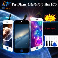 Cena hurtowa dla iPhone 5 5C 5S 6 6 Plus Wyświetlacz LCD Ekran dotykowy z zespołem Wyświetlacz Digitizer Kompletna wymiana Tianma