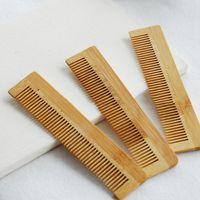 1 قطع عالية الجودة تدليك خشبي مشط الخيزران تنفيس الشعر فرشاة العناية بالشعر والجمال سبا مدلك بالجملة