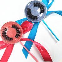 Seashine Selling 1 par / lote 100% Real Siberian Mink 3D Strip Full Strip False Pestañas Largas Pestañas Individuales Visón pestañas Extensión