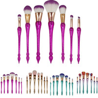 Pro 7Pcs Synthetic Hair Make Up Brushes Set Foundation Face&...