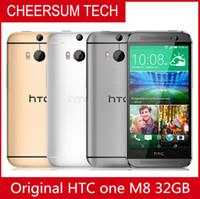 "HTC ONE مقفلة M8، الأصل الهاتف المحمول 5.0 ""الشحن رباعية النواة 2GB RAM 16GB / 32GB ROM 4G الروبوت الهاتف المحمول 5PCS مجانا"