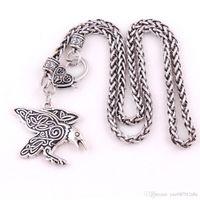 Ворон очарование Морриган Ворона амулет с КТ спирали кулон ожерелье ювелирные изделия для женщины лучший подарок груза падения