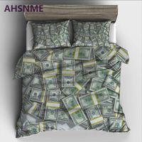 AHSNME dekoration dollar geld Bettwäsche Set High-definition Print Bettbezug für RU AU EU König Double Size Markt jogo de cama