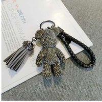 CX-Shirling carino catena Bling completa CZ Strass animale Keychain Car dell'anello del pendente sacchetto per Charm Hotsale Gifts