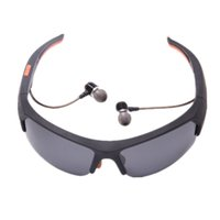 TBT Wireless Bluetooth Sunglasses 4. 1 Eyewear - - Black+ Orange