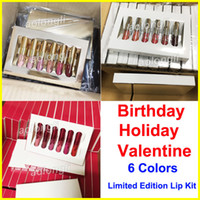 Holiday Edition lip gloss Birthday lipstick Mini Kit 6pcs se...