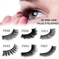 100% handmade 3D Mink HAIR false eyelash thick fake eyelashe...