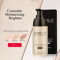 Laikou Professional Cor Correção Fundação Hidratante Correcionador À Prova D 'Água Fundações Líquidas 40 g Base de Maquiagem Corretiva Facial