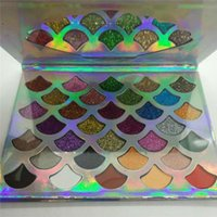 En kaliteli Cleof Kozmetik Paleti 32 renkler Moda Kadınlar Güzellik makyaj Mermaid Glitter Prizma Paleti 32 renkler DHL hızlı ücretsiz kargo