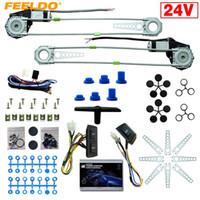 FeelDo DC24V Auto / Truck voor 2-deuren Elektrische stroomvenster Kits met 3 stks / set Schakelaars harnas # 4064
