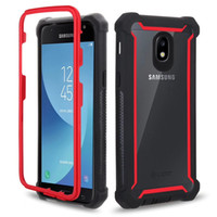 TPU Clear Hybrid Hybrid Case per Samsung Galaxy Note 9 8 J3 J7 Prime 2018 Front Back Defender Cover per LG Stylo 4