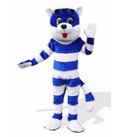新しい大人かわいいブランド漫画青い猫マスコット衣装ファンシードレス熱い販売パーティー衣装無料船