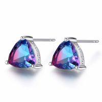 8b28a6e77 Wholesale rainbow topaz earrings for sale - Luxury Rainbow Topaz Stud  Earrings Real Sterling Silver Fashion