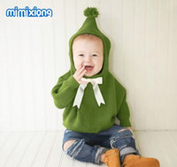 Newborn Baby Sweaters Clothes Grey Hooded Designer Sweater f...