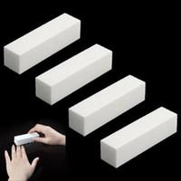 4 Teile / los DIY Nail art Puffer Datei Block Pediküre Maniküre Polieren Schleifpolitur Weiß Make-Up Schönheit Werkzeuge