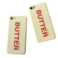 Hot Instagram Butter Phone Case per iPhone 7 7plus 6 6s 6plus Custodia rigida in plastica opaca per il fumetto Custodia Cover posteriore Spedizione gratuita