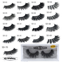 1Pair / lot Wimpern 3D Mink Wimpern Kreuzung Mink Wimpern Hand Made Full Strip Eime Wimpern 17 Arten Neues Paket CILIOS Naturais