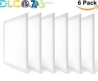 30W 40W 2x2ft LED Panel Işık Düz Tavan Armatür Floresan Troffer Yedek Bırak Tavan Işık 0-10V Dim Daylight ETL DLC