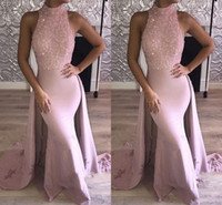 2018 New Design Mermaid Prom Dresses Detachable Train Sequin...