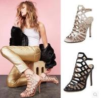 El más nuevo 2018 diseño de lujo de cuero mujeres sandalias de tacón Slingback bombas Ladies Sexy tacones altos 8 cm zapatos de moda de colores negro