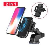 Qi Car Mount Wireless Charger For iPhoneX 8 8Plus 360 Rotati...