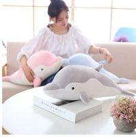 50 см мягкий Дельфин плюшевые игрушки куклы чучела вниз хлопок животных подушка Каваи офис ворс подушка детские игрушки Рождественский подарок для девочек