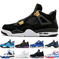 huge selection of f67f1 d8865 4 4s Travis Scotts Cactus Jack Mens Scarpe da basket Raptors Kaws Denim  Eminem Puro denaro