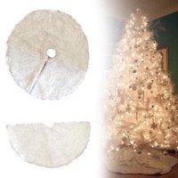 Белый Плюшевые Рождественская Елка Юбки Меховой Ковер Xmas Украшения Новый Год Главная Открытый Декор Событие Дерево Юбки