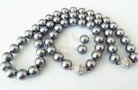 vente en gros 10mm gris shell naturel perle de mode bracelet boucle d'oreille collier ensemble