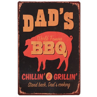 Dad's BBQ Retrol cartel de chapa Placas de Metal Regalo PUB Wall art Pintura Poster Bar home Restaurante Decoración