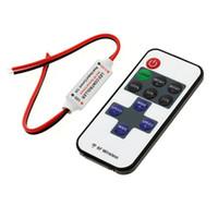 11 tuşları Mini RF Kablosuz Uzaktan Kumanda LED Dimmer Kontrol SMD 3528 5050 5730 Için Tek Renk LED Şerit