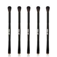 MAANGE Yeni Profesyonel Makyaj Fırçalar Set 5 adet Yüksek Kalite Çift Kafa Kaş Göz Farı Göz Makyajı Fırça
