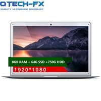 "14"" Laptop PC 8GB RAM 64G SSD+ 750G Ultrabook Windows 10 ..."