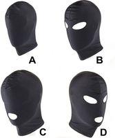 4スタイルヘッドギアマスクボンデージ拘束ブラインドマスクSMセックスおもちゃカップル/女性/男性/ゲイスレーブヘッドギアBDSMおもちゃ