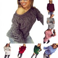 Solid Women Sweaters 13 Colors One Size Women Knitted Pullov...