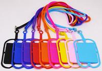 10 ألوان سيليكون اسهم الرقبة حزام قلادة حامل بطاقة حبال حزام الهاتف الخليوي المحمول العالمي