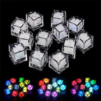 LED Party Lights Color Changing LED ice cubes Glowing Ice Cu...