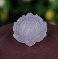 Yeşim Heykeli Doğal Akik Yeşim El Oyma Lotus Çiçeği Yeşim Kolye Mücevher Koleksiyonu Yaz Süsler Doğal Taş El Gravür