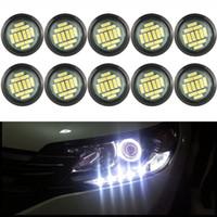 10 PCS blanc 12V DC Eagle Eye étanche Underglow LED Neon Lights Trail Rig pour voiture Truck Trail Rig rock Lampe Glow Light
