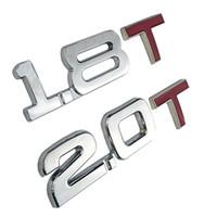 3D Auto Metall 1,8T 2.0T logo Aufkleber Emblem Abzeichen Abziehbilder für Mazda Kia Renault Toyota BMW Ford Focus Auto Styling