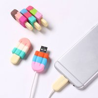 Ice cream USB cable Protector data line charging cable prote...