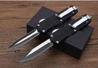 Couteau à outils de l'autodéfense Combat TF T E07 Poignée de branche Poignée Double action Chasse Couteau de poche automatique Couteau de survie Couteau de Noël pour hommes