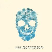 Dikiş Kavramları Araçları Moda Kafatası DIY Çıkartmalar 16 * 23.5 cm Yamalar T-shirt Kazak Demir Giyim Için